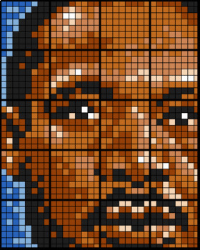 Martin Luther King Jr. - Coloring by Quadratic Equations (20 Sheet Math Mosaic)
