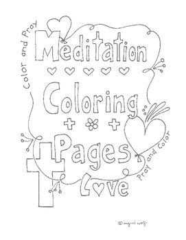 Coloring Meditation Pages Bible Verse