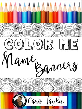 Coloring Name Banners