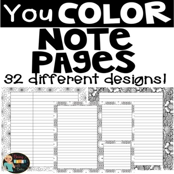 Coloring Note Pages