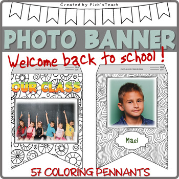 Coloring PHOTO BANNER for Back 2 School + WELCOME BACK banner