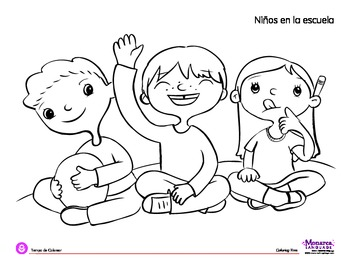Coloring Page Back To School Circle Time By Monarca Language Tpt Circle Coloring Pages