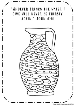 Coloring Page Bible Verse By Coloring Pages And More Tpt