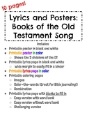 Posters, Printables, and Coloring Pages- Old Testament Books of the Bible Song