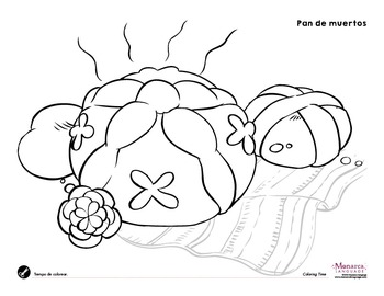 Day of the Dead {free coloring pages} by Monarca Language | TpT