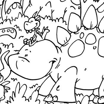 Coloring Page ~ Dinos