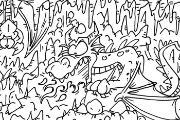 Coloring Page ~ Dragons