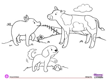 Coloring Page - Farm Animals