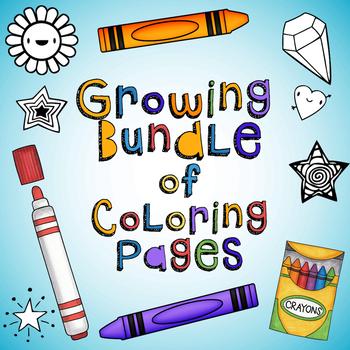 Coloring Page GROWING Bundle!