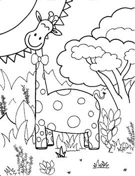 Coloring Page - Giraffe