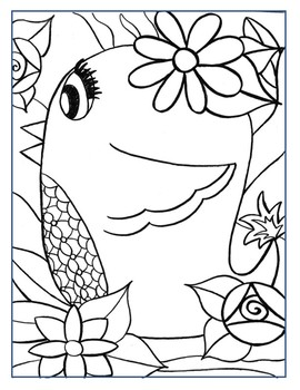 Coloring Page - Girl Bird 2