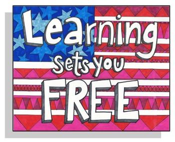 Learning sets you Free Coloring Page