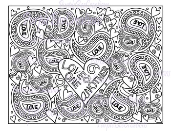 Coloring Page Love One Another Bible Verse Coloring Page | TpT