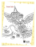 Coloring Page Printable from the Swan Lake Ballet by Tchaikovsky