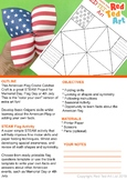 Coloring Page STEAM American Flag Cootie Catcher  - Flag Day, 4th July