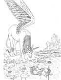 Coloring Page - Unicorn Pegasus