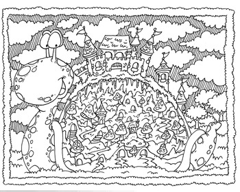 Coloring Page ~ Snail