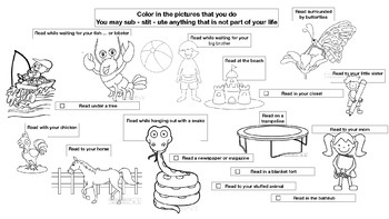 Coloring Page Summer Reading Challenge