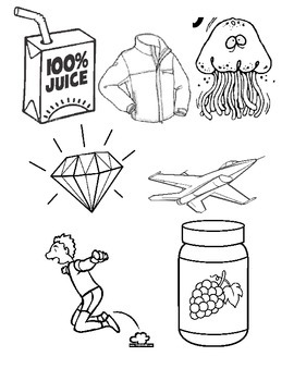 Coloring Page:  Words that start with J