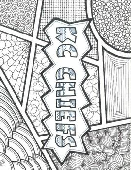 Coloring Page Zentangle Kc Chiefs Kansas City Sub Plan Use