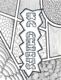 Coloring Page/Zentangle - KC Chiefs (Kansas City)   (SUB P