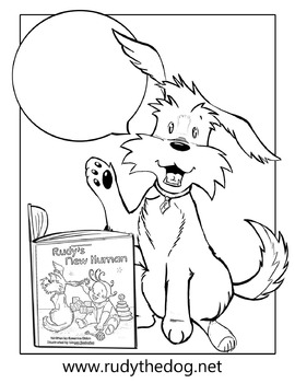 Coloring Page for Rudy's New Human
