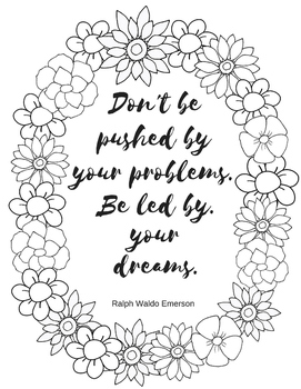 Coloring Page for Teachers - Ralph Waldo Emerson Quote