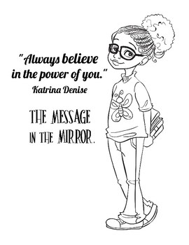 Coloring Page for The Message in the Mirror Book