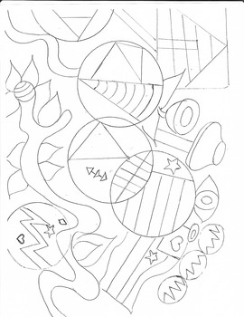 Coloring Page of  Creative Geometric Shapes!