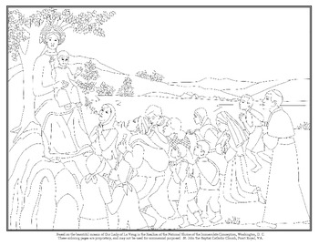 Coloring Page of Our Lady of La Vang
