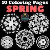 Coloring Pages 10 different Spring Mandala Designs Perfect