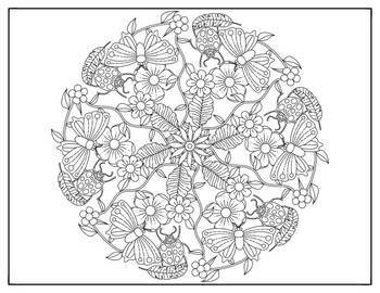 Coloring Pages 10 Spring Mandala Designs Coloring Worksheets Tpt