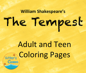 Adult Teen Coloring Pages, Shakespeare's The Tempest, Art, Fun