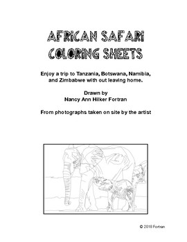 Coloring Pages: African Safari by World of Art   TpT