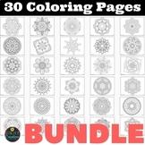 Coloring Pages BUNDLE 30 different Mandalas Coloring Worksheets