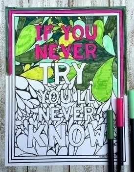 Growth Mindset Coloring Pages Bundle | 80 Fun, Creative Designs