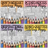 Growth Mindset Coloring Pages Bundle | Distance Learning Coloring Pages