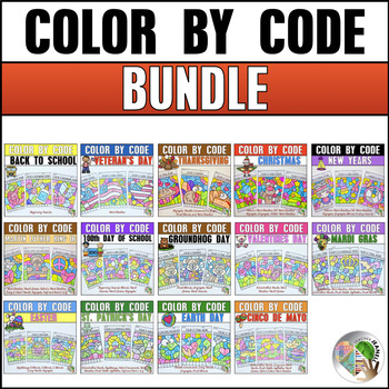 Coloring Pages Bundle | Color by Code Phonics Bundle