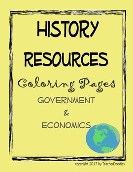 Coloring Pages - Economics & Government