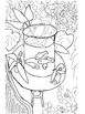 Coloring Pages - Fall Plowing, Goldfish (Klee), Goldfish (Matisse), Head of Man