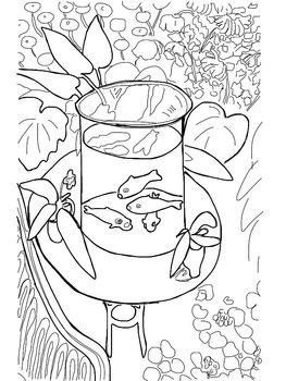 Coloring Pages Fall Plowing Goldfish Klee Goldfish Matisse