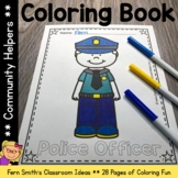 Community Helpers Coloring Book  - 28 Pages of Community H