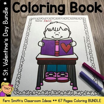 St. Valentine's Day Coloring Pages Bundle