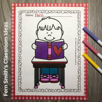 St. Valentine's Day Fun At School Coloring Pages