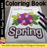 Four Seasons Coloring Pages - 32 Page Coloring Book For Some Four Season Fun