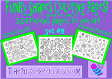 Coloring Pages Funky Shapes Coloring Pages Set 5