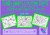 Coloring Pages Funky Shapes Coloring Pages Set 4