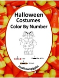 Halloween Color by Number Math Centers Fine Motor Skills P-K, K, Special Ed
