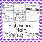 Coloring Pages - High School Math