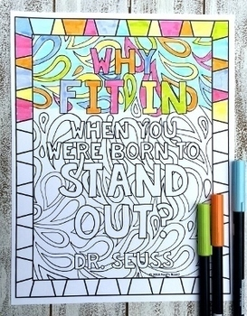 Distance Learning | Growth Mindset Coloring Pages | Inspirational Coloring Pages